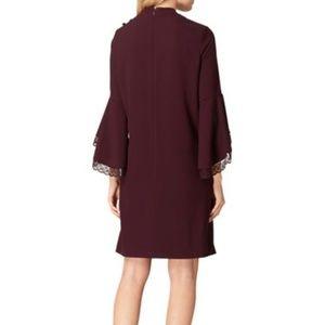 Tahari Dresses - NWT Tahari ASL Purple Lace Bell Sleeve Shift Dress